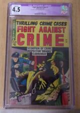 FIGHT AGAINST CRIME #1 1951 CGC 4.5 COLOR TOUCH OFF WH,ONLY 3 GRADED 2ND BEST