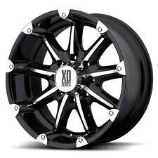 "20"" Black Wheels LIFTED Dodge RAM 2500 3500 8x6.5 Lug XD Series Badland 20x9 4"
