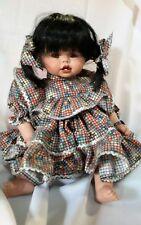 "cute Indian doll porcelain, head hands, feet little girl 13"" by Sam Magan"