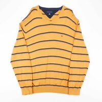 TOMMY HILFIGER  Yellow 00s V-Neck Jumper Mens XL