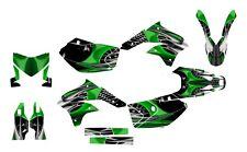 KLX 450 graphics kit 2008 2009 2010 2011 2012 2013 for Kawasaki #4444 Green