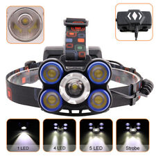 T6+4LTS 5LED Hunting headlamp Head Light 18650 Zoomable Flashlight Torch