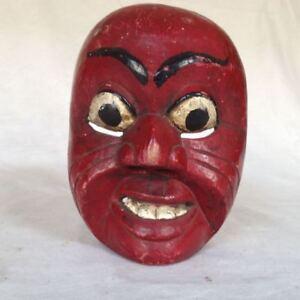 alte Topeng Wayang Bali Java Theatermaske Holz Mask 4