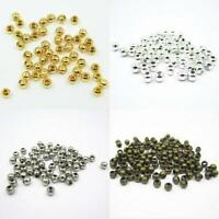 Wholesale Metal Round Spacer Beads Crafts Jewelry DIY 2MM 2.4MM 3MM 4MM 5MM