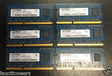 Elpida 2GB PC3-10600S 1Rx8 DDR3-1333MHz EBJ20UF8BCS0 CL9 204Pin SoDimm