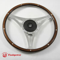 15'' Classic Riveted Wood Steering Wheel Restoration Mustang Shelby AC Cobra