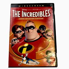 Disney Pixar The Incredibles Dvd Widescreen 2-Disc Collector's Edition