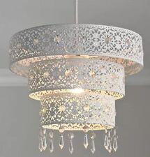 Splendido Bianco Metallo marrocchino lampadario a un pendente 3 piani