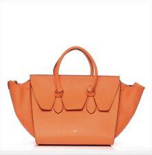 Authentic Celine Calfskin Tie Knot Orange Bag