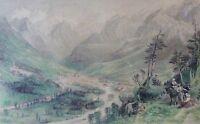 Cauterets in den Pyrenees(ESPANA/ Spanien) Stahlstich um 1880 von Allom /Fischer