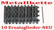 10 x Panzerkette Glieder RC Panzer Tiger 1 Heng Long Metallkette  Altsilber NEU
