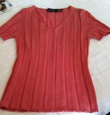 DANA BUCHMAN Rose silk knit short Sleeve Size S-QUALITY~NICE