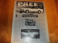 Original 1979 Chevy Malibu street machine article 468BB