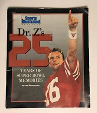Vintage Sports Illustrated Dr. Z's 25 Years Of Super Bowl Memories Magazine
