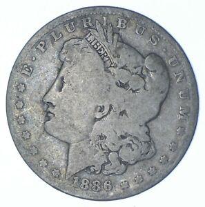 W@W Early 1886-O Morgan Silver Dollar - 90% US Coin - Nice Coin *328