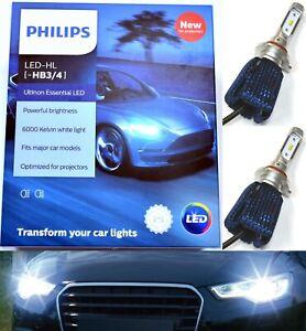Philips Ultinon LED Kit 6000K White 9006 HB4 Two Bulbs Fog Light Lamp Upgrade OE