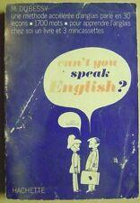 Livre Can't you speak English méthode accélérée d'Anglais /T8