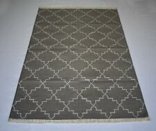Grey Color Geometric Cotton Rug 48'x72' Inches Modern Area Rug