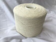 100% Linen Yarn On 1450 Gram Cone  In Natural Undyed 1/6 Nm. 2 Ply Knitting.