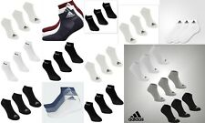 New  3 Pack Mens Genuine Adidas Sports Low Cut Trainer Socks  Size 5-14