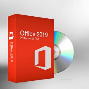 Microsoft Office 2019 Professional Plus Key 1PC Lizenz +Recovery DVD für Windows