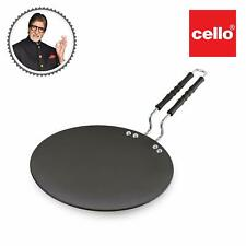 Cello Hard Anodized Concave/Roti/Paratha Tawa (25cm), Black (3MM Thickness)