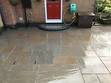 Autumn Brown Premium Indian Sandstone Paving Slabs - 19m2 Pack Garden Paving