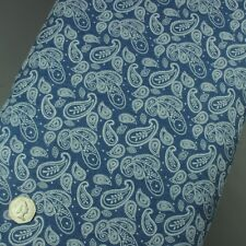 4oz 100% Cotton Denim Paisley Floral Fabric, Soft, Washed, Lightweight Material