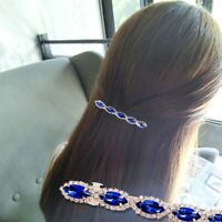 Women's Retro Rhinestone Metal Hairpin Crystal Hair Clip Barrette Jewelry v