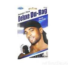 Glowing and Shiny Bandana Deluxe Du-rag Smooth & Thick #007 BLACK