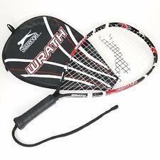 Slazenger Wrath Tennis Racquetball Racquet Black Red White Medium Size W/ Bag