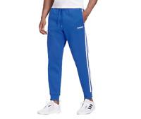 Adidas Sweatpants Mens XL or 2XL Blue New Essential 3 Stripes Tapered Cuff Pants
