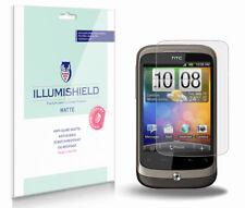 iLLumiShield Matte Screen Protector w Anti-Glare/Print 3x for HTC Wildfire