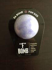 """Da Bomb Bath Fizzer """"F"""" Bomb Lavender Scent Calming Message Inside purple"""