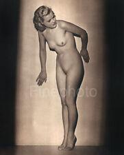 1939 Vintage FEMALE NUDE Woman Art Deco Pose England JOHN EVERARD Photo Gravure