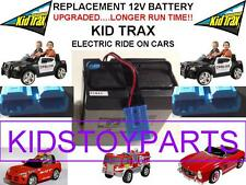 NEW! LONG LASTING UPGRADED KID TRAX 12 VOLT OEM RECHARGEABLE  BATTERY BLUE PLUG