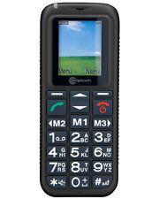 Amplicom Powertel M4000 Senioren Handy frei für alle Karten schwarz