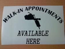 LARGE tattoo studio shop window door sign vinyl WALK IN decal sticker gun ink
