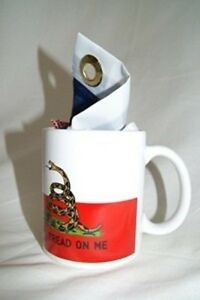 Texas Gadsden Come and Take It Tea Party 12 oz Ceramic Mug w/ 12x18 flag