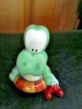 Vintage 1997 Moskowitz Enesco Ceramic Alligator & hermit crab Figure #364584
