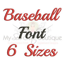 BASEBALL ALPHABET FONT MACHINE EMBROIDERY DESIGNS - 6 SIZES - IMPFCD28