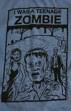 I WAS A TEENAGE ZOMBIE Mark Weber T-SHIRT blue size SMALL/MEDIUM movie comic
