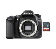 New Canon EOS 80D Body Only DSLR Camera + 16GB SD Card