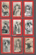 1900's Dominion Tobacco Actresses Red Edge Tobacco Cards Lot of 9