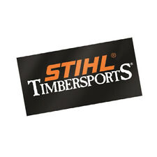 "STIHL TIMBERSPORTS STICKER  8"" X 4"" BLACK"
