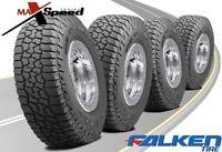 (Qty of 4) Falken Wild Peak A/T3W LT285/65R18 125/122S All Terrain Tires
