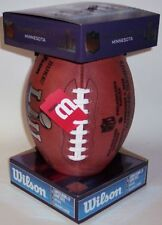 Super Bowl 52 NFL Authentic Wilson Game Football w/ Eagles & Patriots Inscribed