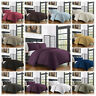 Modern Duvet Cover 3Pc Bamboo Hotel Quality Soft Hypoallergenic Wrinkle Resists