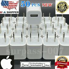 50x For Apple iPhone USB Power Wall Cube OEM Charger Adapter Block XS/X/8P/6S/5S