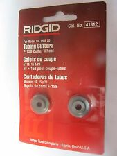 Ridgid Wheel Cutter F158 Blister Pack  Tubing Cutters Package of 2  #41312   NEW
